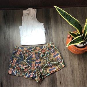 Tribal bead boho Zara shorts